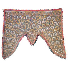 1950s Indian Hand Sewn Silk Patchwork Wedding Decoration with Vibrant Colors