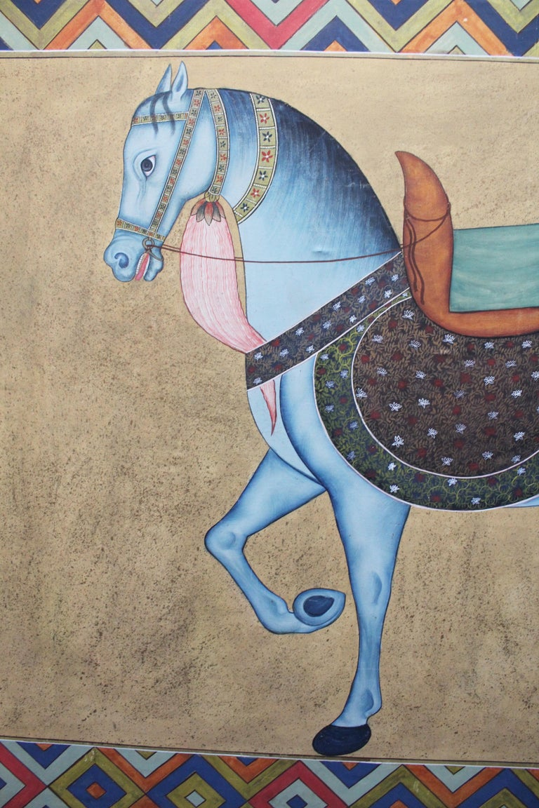 Hand-Painted 1950s Indian Painting