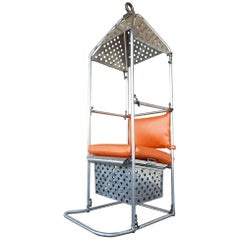 1950s Industrial Aluminum Crane or Airplane Hoist Canopy Chair