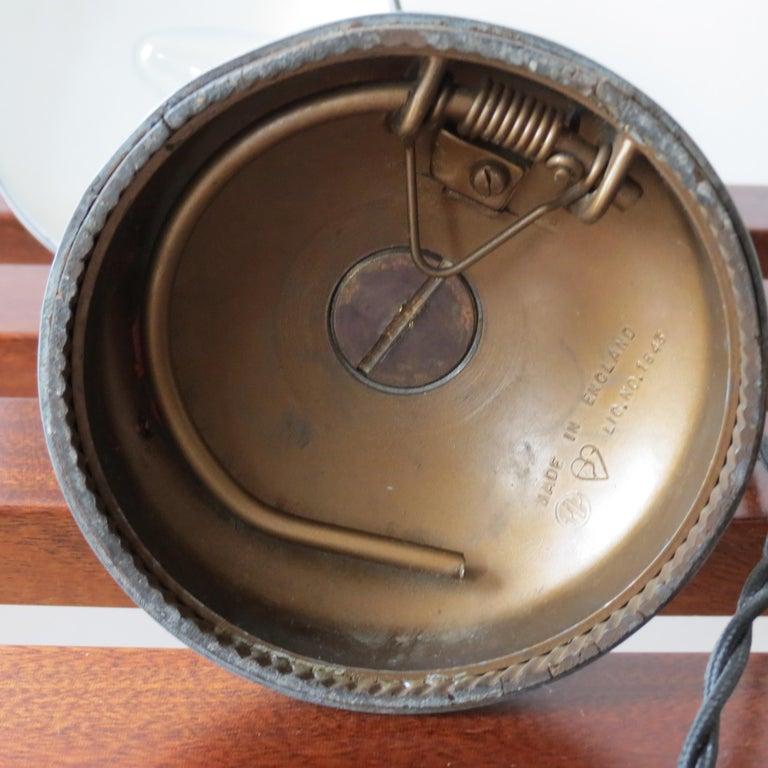1950s Industrial Metek Metal Travelling Desk Lamp Aluminum Folding Desk Lamp For Sale 6