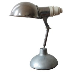 1950s Industrial Metek Metal Travelling Desk Lamp Aluminum Folding Desk Lamp