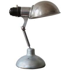 1950s Industrial Metek Metal Travelling Lamp Aluminium Folding Adjustable Lamp B