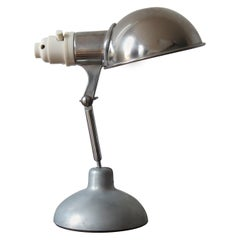 1950s Industrial Metek Metal Travelling Lamp Aluminium Folding Adjustable Lamp W
