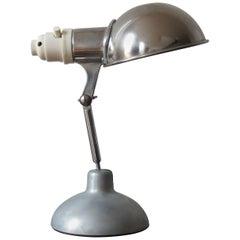1950s Industrial Metek Metal Travelling Lamp Aluminum Folding Adjustable Lamp W