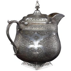 1950s Iranian Small Silver Traditional Teapot