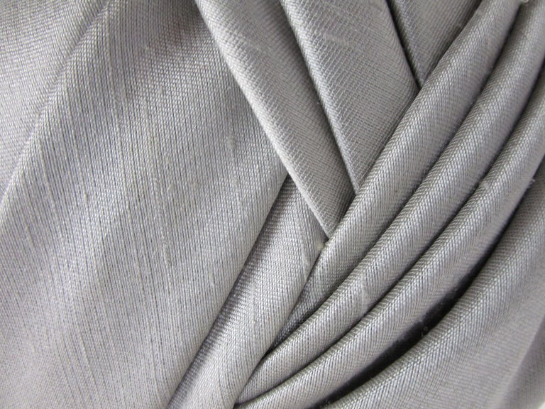 1950s Irene of New York Grey Raw Silk Turban  For Sale 2