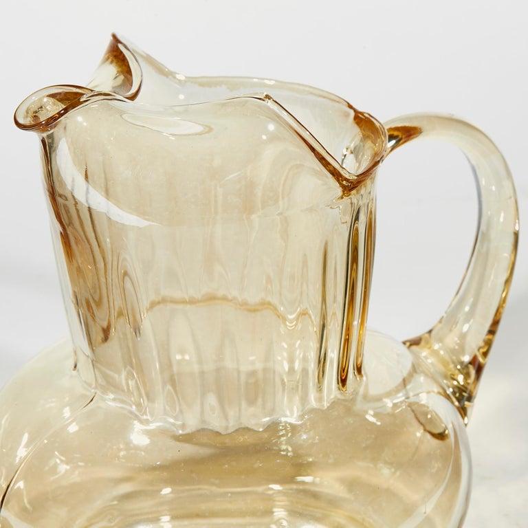 American 1950s Iridescent Multicolored Glass Beverage Set, 7-Piece For Sale