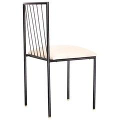 1950s Iron Chair by Geraldo de Barros for Unilabor, Brazilian Mid-Century Modern