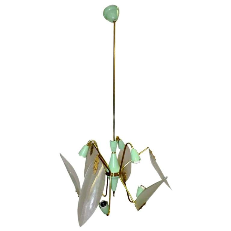 1950's Italian Dragonfly Sputnik Chandelier