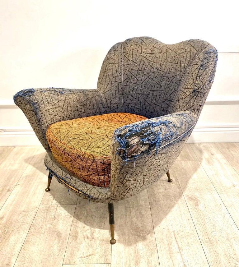 Mid-Century Modern 1950s Italian Armchair by Poltrona Frau For Sale
