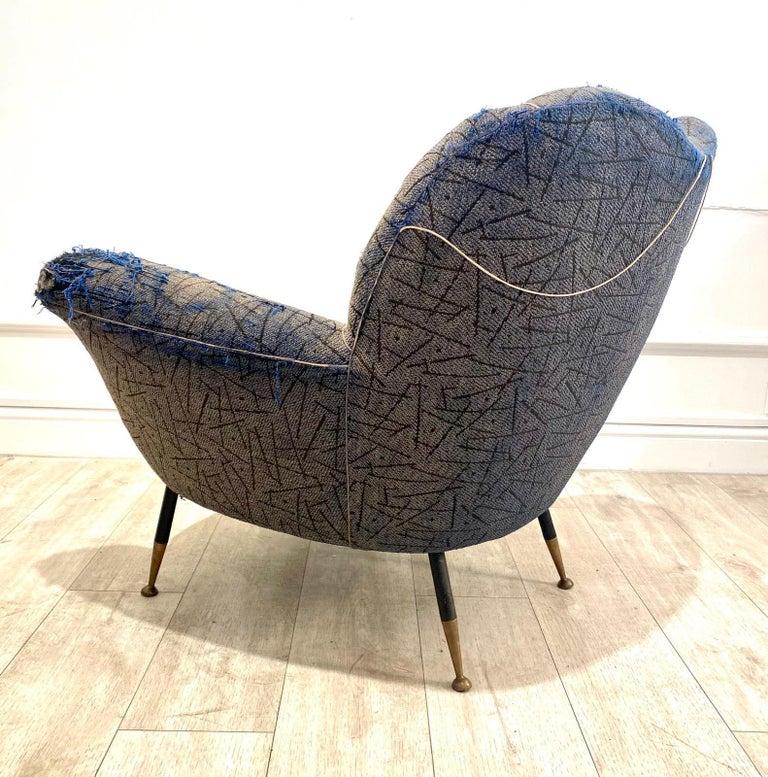 20th Century 1950s Italian Armchair by Poltrona Frau For Sale