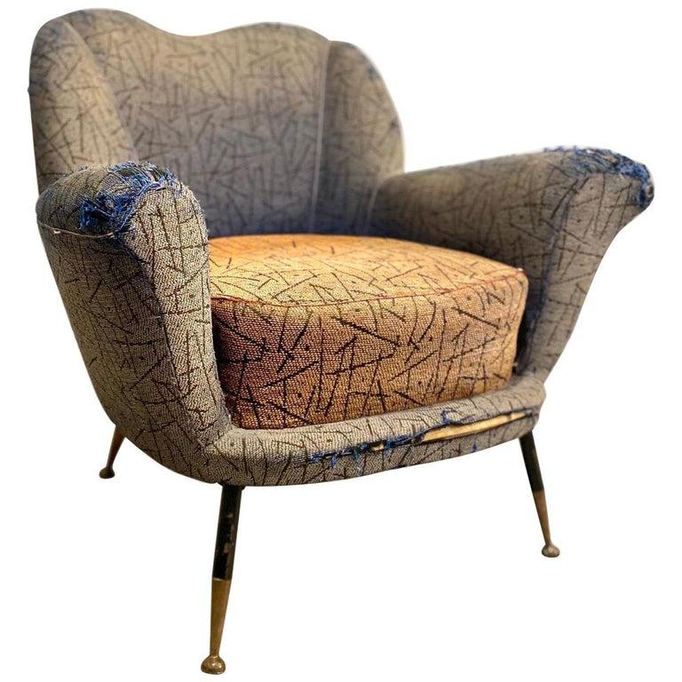 1950s Italian Armchair by Poltrona Frau For Sale