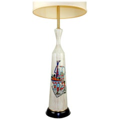 1950s Italian Art Lamp by Marbro