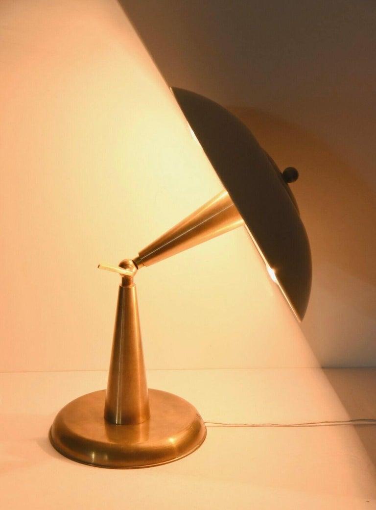 Enameled 1950's Italian Articulating Desk Lamp For Sale