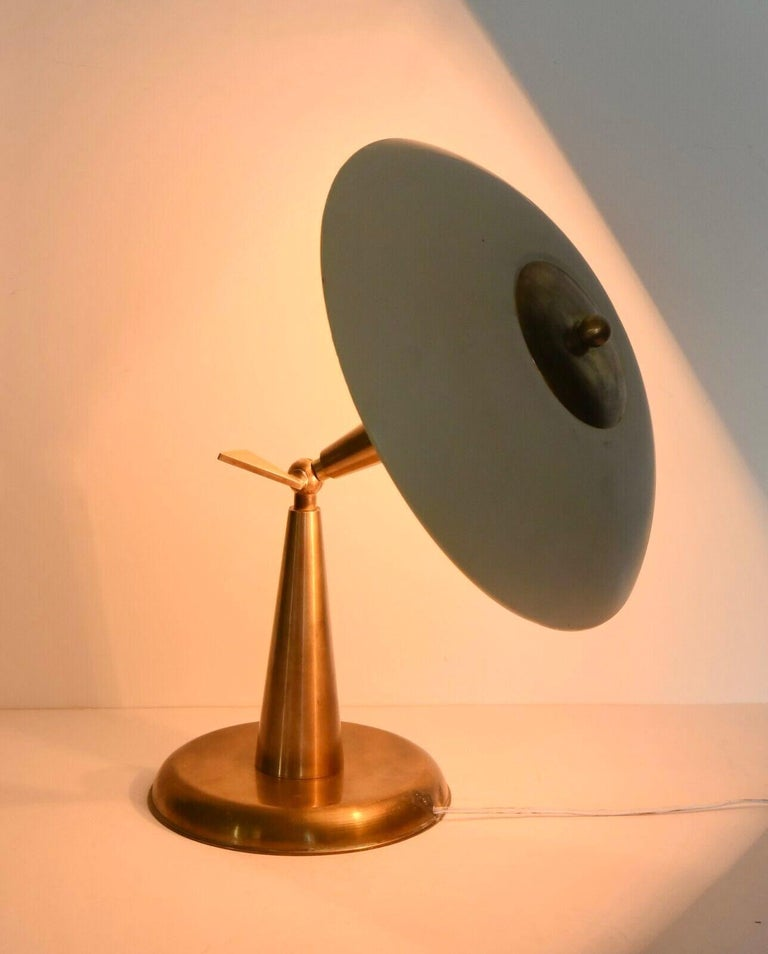 1950's Italian Articulating Desk Lamp In Good Condition For Sale In Hingham, MA
