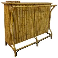 1950s Italian Bamboo Drinks Bar by Tito Agnoli for Bonacina