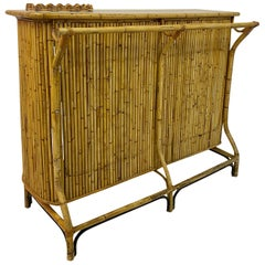 1950s Italian Bamboo Drinks Bar