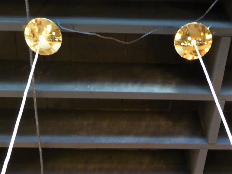 1950s Italian Blown Glass Double Cone Pendants For Sale 5