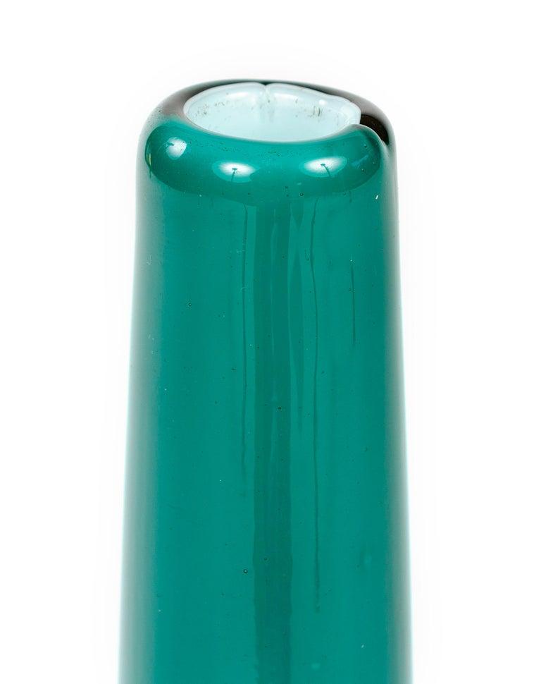 Mid-Century Modern 1950s Italian Blown Glass Vase For Sale
