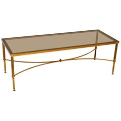 1950s Italian Brass and Glass Coffee Table