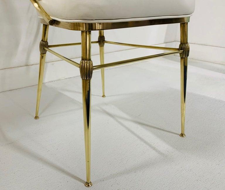 1950s Italian Brass Chiavari Chair For Sale 2