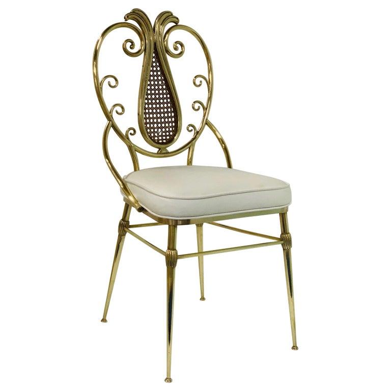 1950s Italian Brass Chiavari Chair For Sale