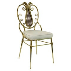 1950s Italian Brass Chiavari Chair