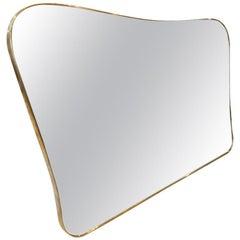 1950s Italian Brass Mirror