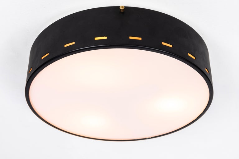 Mid-20th Century 1950s Italian Ceiling Lamp Attributed to Bruno Gatta for Stilnovo For Sale