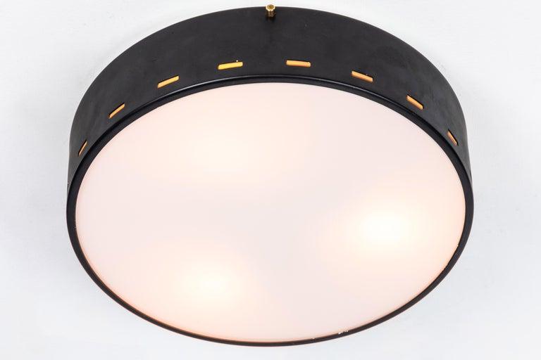 Metal 1950s Italian Ceiling Lamp Attributed to Bruno Gatta for Stilnovo For Sale