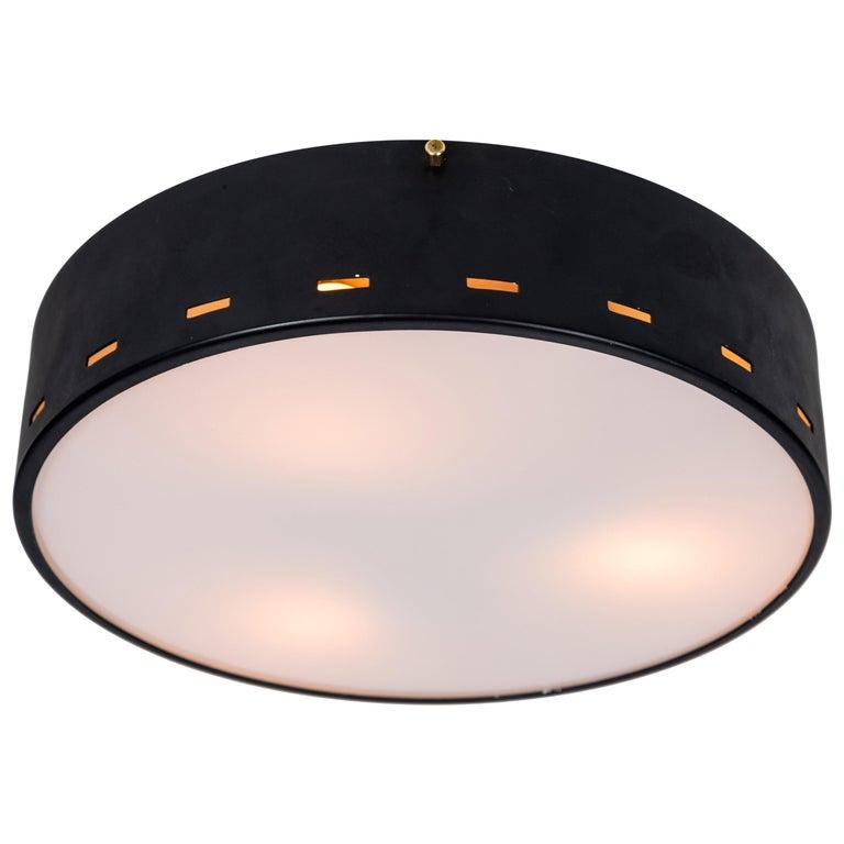 1950s Italian Ceiling Lamp Attributed to Bruno Gatta for Stilnovo For Sale