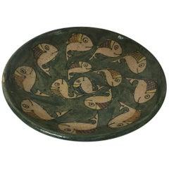 1950s Italian Ceramic Fish Plate