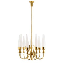 1950's Italian Chandelier by Angelo Lelii for Arredoluce