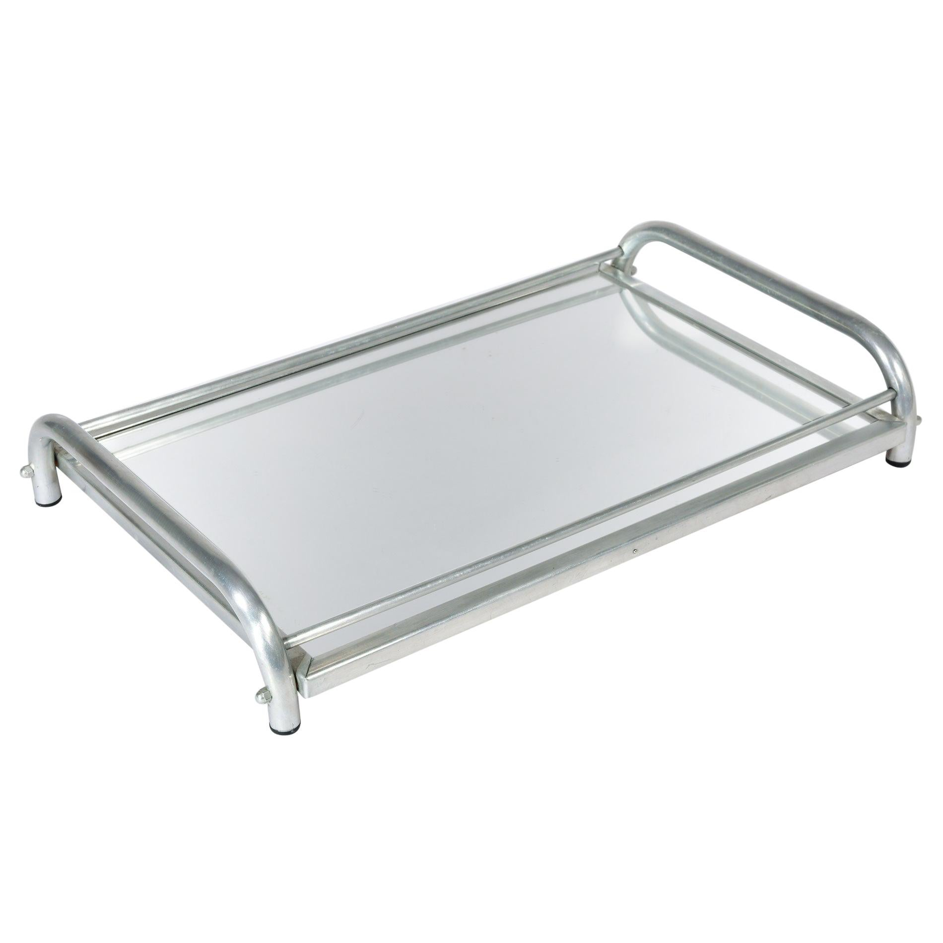 1950s Italian Chrome and Mirror Tray