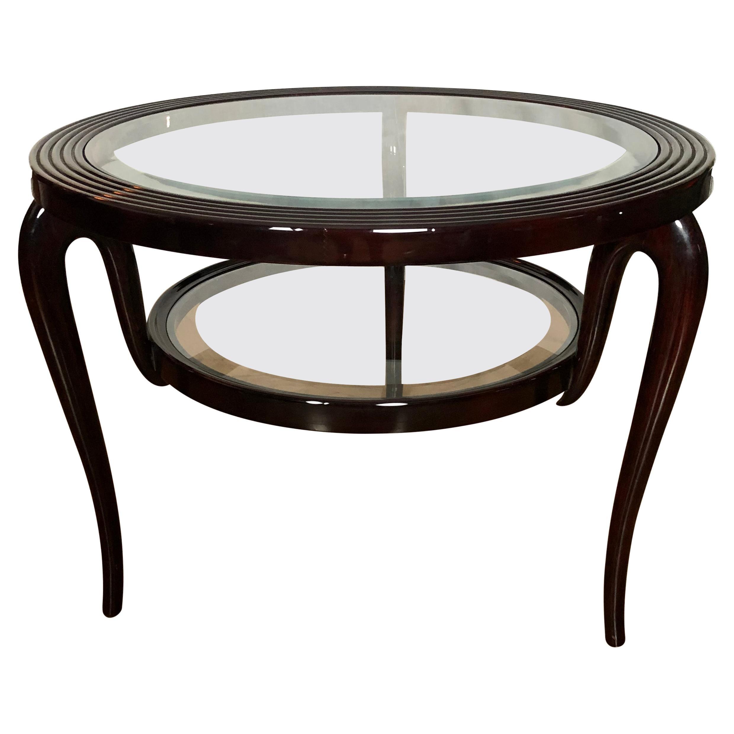 1950s Italian Circular Coffee Table