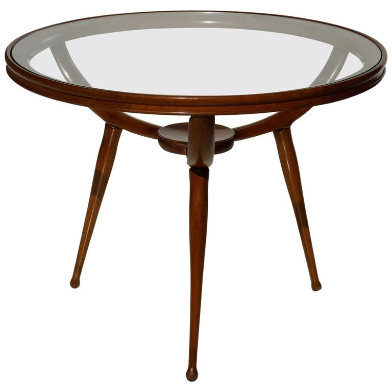 1950s Italian Design Midcentury Modern Coffee Table For Sale