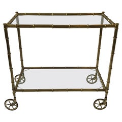 1950s Italian Faux Bamboo Serving Cart