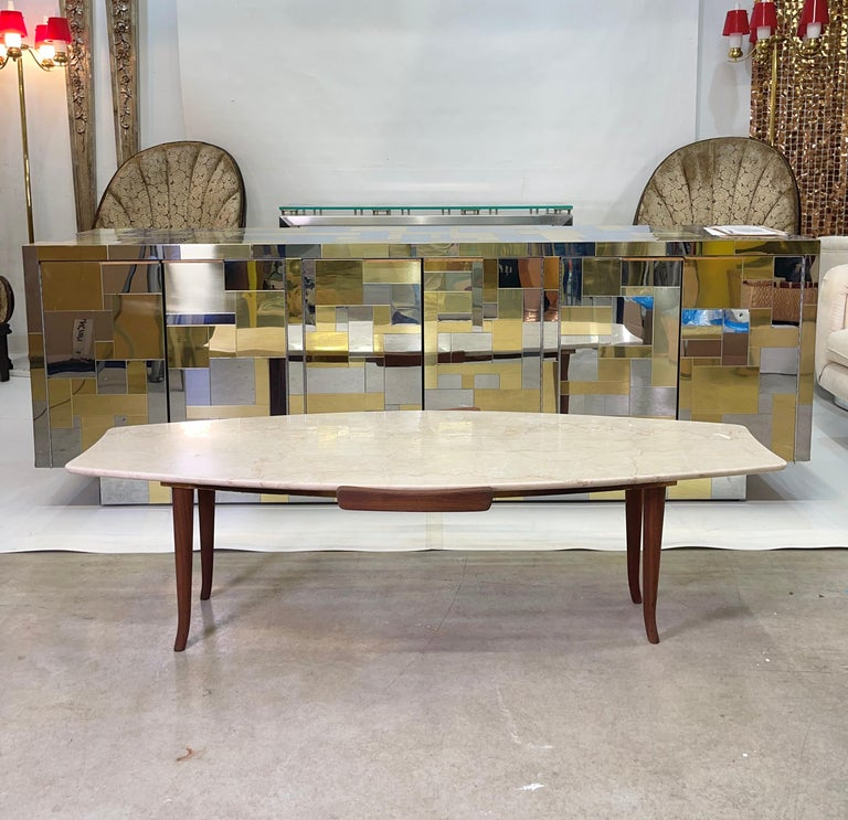 This table came from the collection of a prominent child psychiatrist and a magnificent apartment on Central Park West furnished in original Italian Mid-Century Modern furnishings sourced from M. Singer & Son's, Altamira and Venini, circa