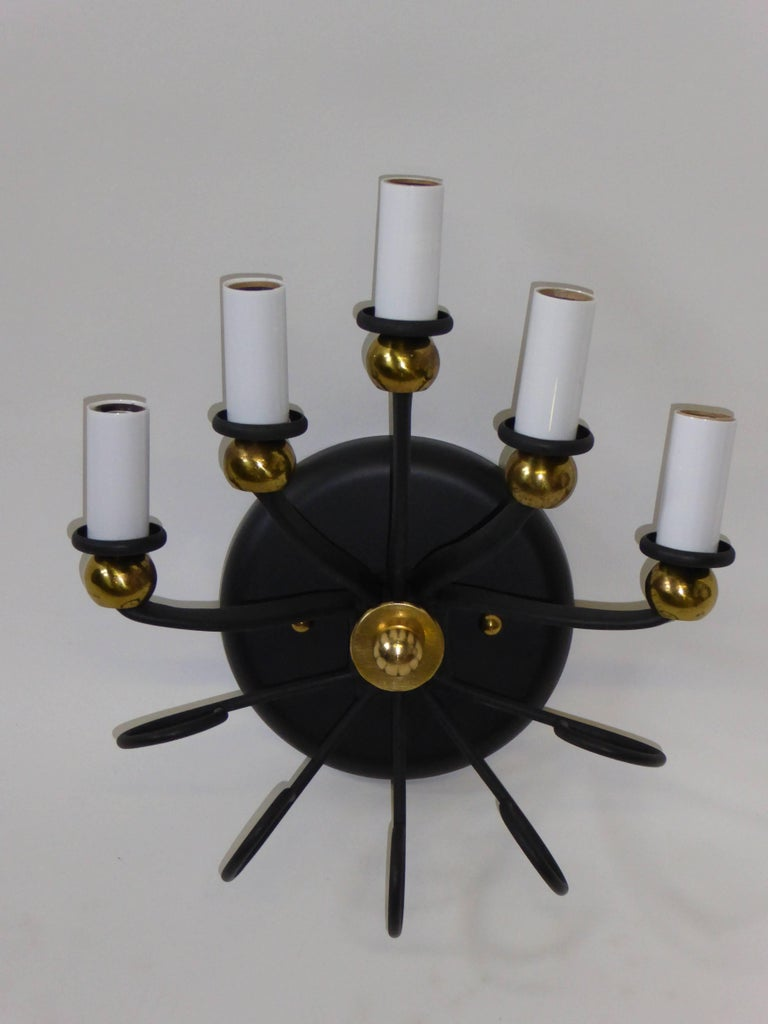 Mid-20th Century 1950s Italian Five-Light Sconce For Sale
