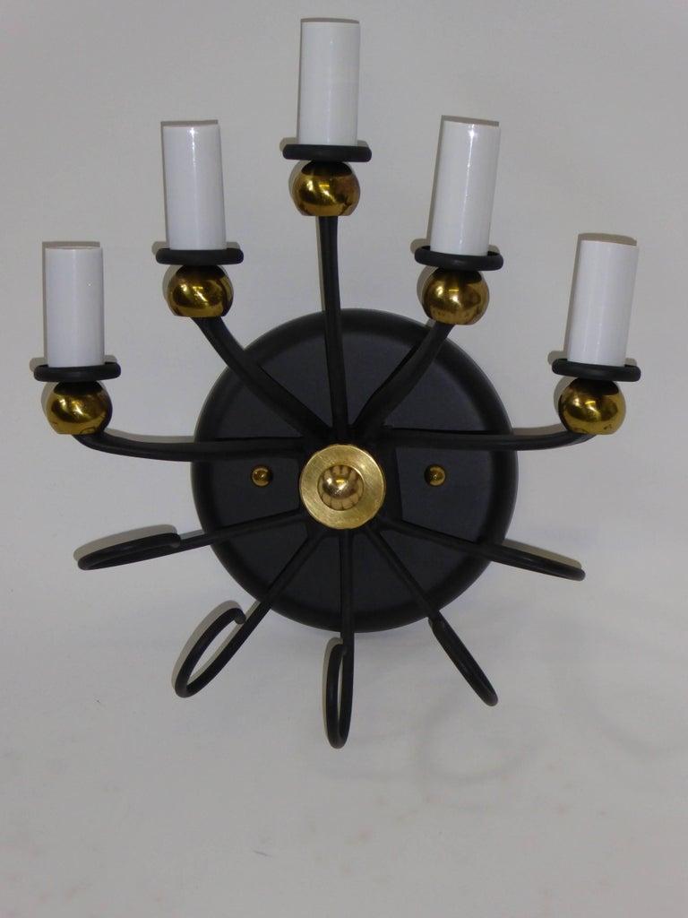 1950s Italian Five-Light Sconce For Sale 1
