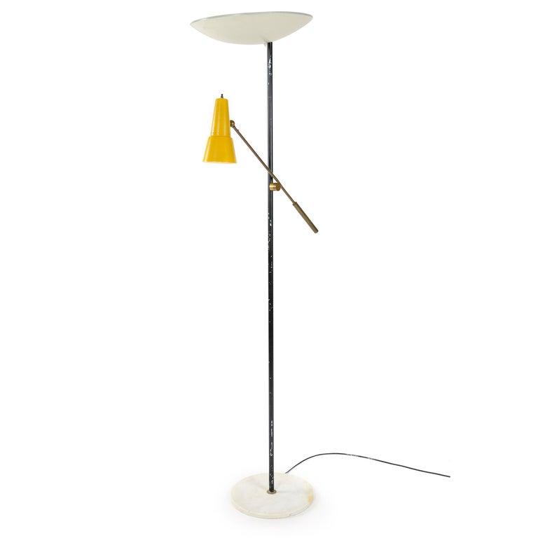 Mid-Century Modern 1950s Italian Floor Lamp by Stilnovo For Sale