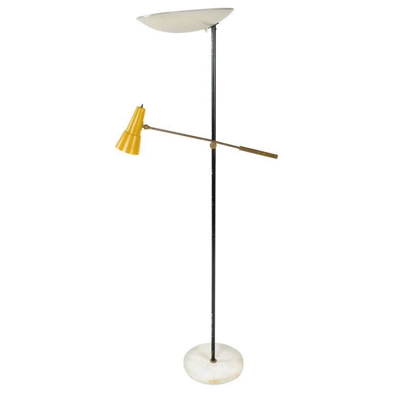 1950s Italian Floor Lamp by Stilnovo For Sale