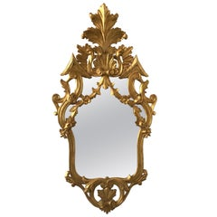 1950s Italian Gilt Carved Wood Mirror