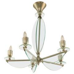 1950s Italian Glass Chandelier
