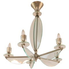 1950s Italian Glass Chandelier