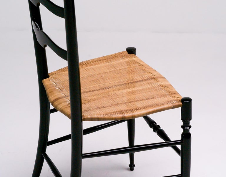 1950s Italian High Back Lacquered Chiavari Chair For Sale 1