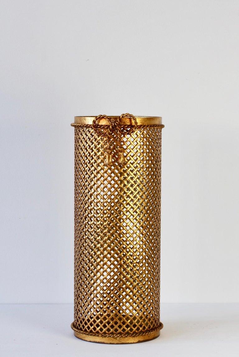 1950s Italian Hollywood Regency Gold Gilded / Gilt Umbrella Stand or Holder For Sale 5