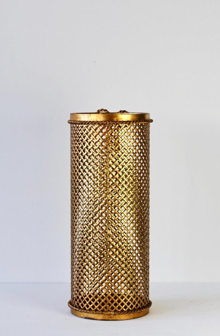 1950s Italian Hollywood Regency Gold Gilded / Gilt Umbrella Stand or Holder For Sale 1