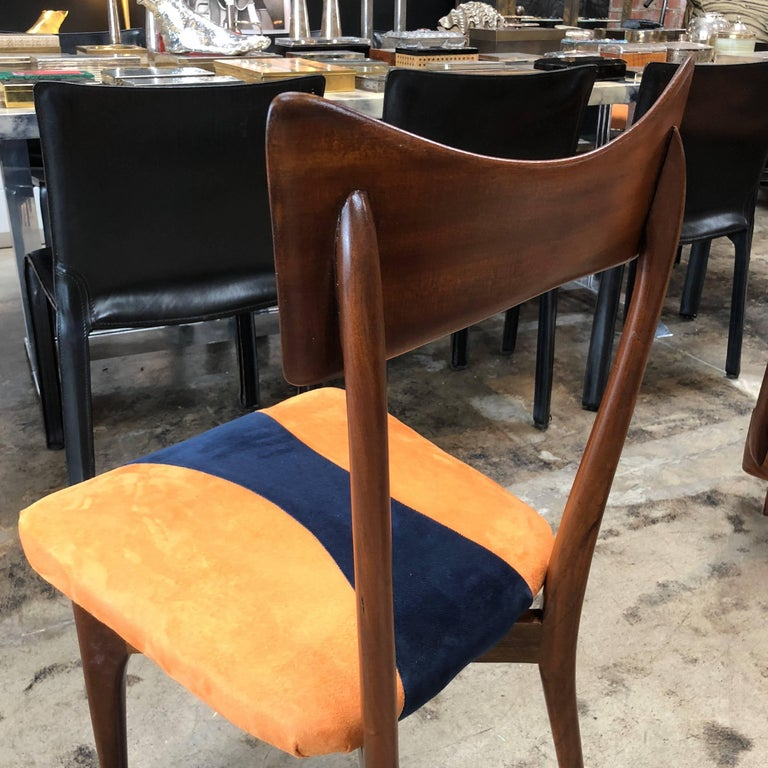 20th Century 1950s Italian Ico Parisi Dining Chairs, Set of Six For Sale