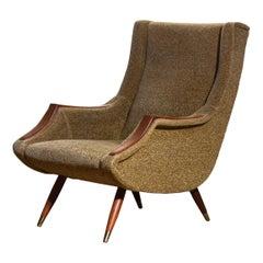 1950s, Italian Lounge / Easy Chair by Aldo Morbelli for Isa Bergamo